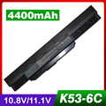 4400 mah batería para asus k53t a53je a53jh a53jq a53jr a53jt a53ju A53S A53SD A53SJ A53SV A53T A53TA A53U K43 K43B K43E K43F