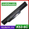 4400 mah bateria para asus k53t a53je a53jh a53jq a53jr a53jt a53ju A53S A53SD A53SJ A53SV A53T A53TA A53U K43 K43B K43E K43F