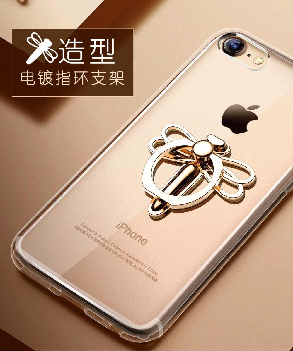 New Dragonfly Phone Stand Holder 360 Degree Plated Finger Ring Mobile Phone  Smartphone Stand Holder For iPhone iPad Xiaomi BA362
