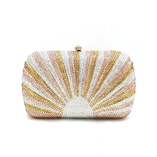 Purses Crystal Clutches Top-Design Diamonds Elegant Bridal Evening-Party Women Luxury
