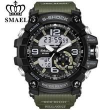 SMAEL Marca Hombres Del Reloj Del Deporte LED Digital Impermeable Choque Casual Masculina Relojes Relogios masculino Regalo de Los Hombres Militares Relojes de Pulsera
