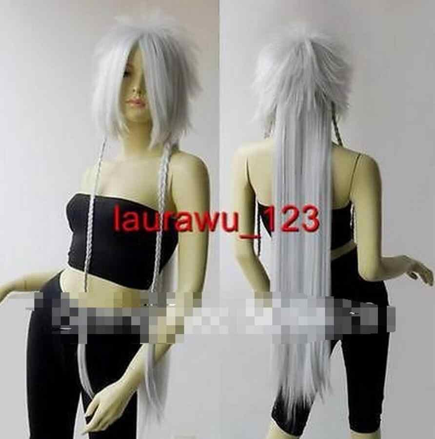 Yeni stil uzun popüler altın sarışın mix beyaz saç peruk peruk