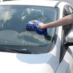 Image 5 - Mikrofaser Auto Washer Schwamm Reinigung Auto Pflege Detaillierung Pinsel Waschen Tuch Handtuch Auto Handschuhe Styling Waschen Zubehör