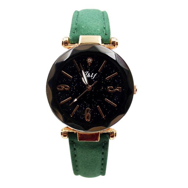 Duobla New Luxury Mesh Ladies Clock Buckle Starry Diamond Geometric Surface Casual Dress Quartz Wristwatch Women Watches 30Q
