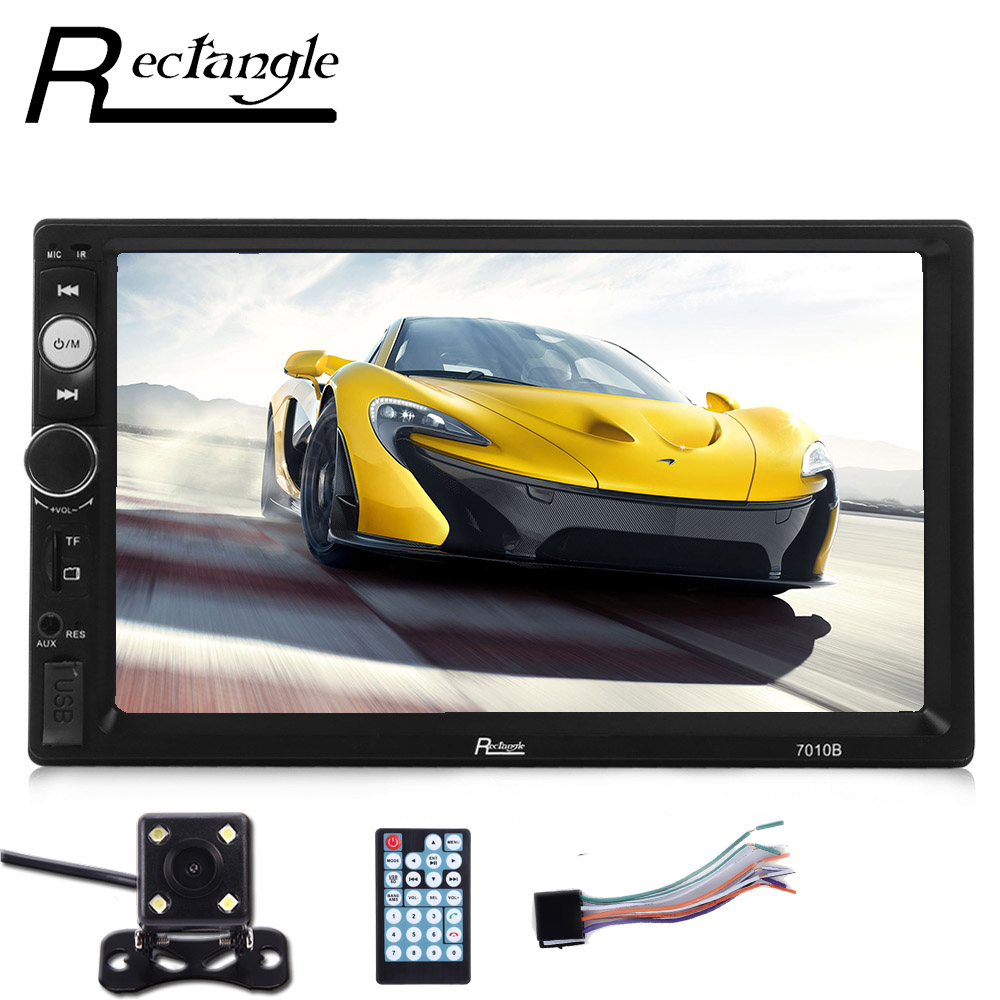 2017 New Rectangle 7 Inch Car MP5 Player 2 Din HD Screen Video Bluetooth USB FM