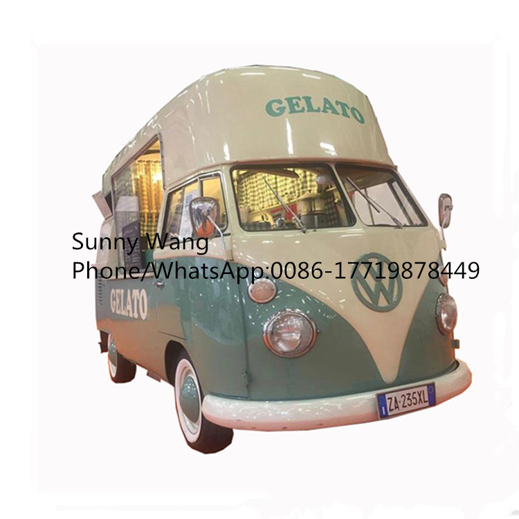 High Roof Outdoor Electric Mobile Food Cart Towable Food Truck Ice Cream Catering For Sale