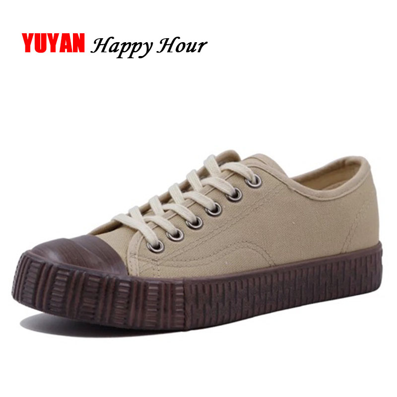 New 2018 Canvas Shoes Men Low top Fashion Sneakers Non-slip Thick Sole Men's Casual Shoes Male Brand Canvas Shoes K155 hot sale 2016 top quality brand shoes for men fashion casual shoes teenagers flat walking shoes high top canvas shoes zatapos