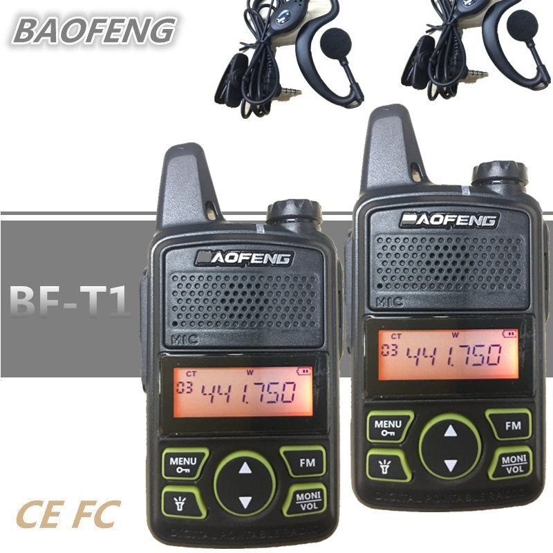 2 PCS BAOFENG BF-T1 Kinder Radio MINI Talkie Walkie UHF Tragbare Ham CB Radio BAOFENG T1 HF Transceiver Intercom USB ladegerät bf t1