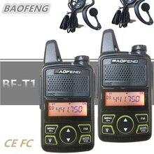 2 шт BAOFENG BF-T1 дети радио мини радио-антенна UHF Портативный Ham любительский радиопередатчик BAOFENG T1 HF радиопередатчик для внутренней связи USB Зарядное устройство bf t1