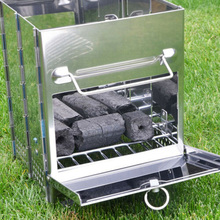 Furnace Cooking Backpacking Barbecue Stove Picnic Burner Grill Folding Charcoal Camping Garden Stainless Steel outdoor hiking camping equipment stove bbq stainless steel carbon furnace people barbecue grill charcoal grill wood stove 2 9kg