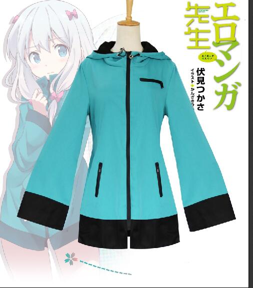 High quality Anime Eromanga Sensei Izumi Sagiri Top Coats Jackets Sweater Hoody Cosplay Costumes Uniform Outfit