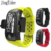 Jingtider S908 Профессиональный GPS послужной список Smart Спорт Смарт Браслет IP68 Водонепроницаемый монитор сердечного ритма фитнес-трекер