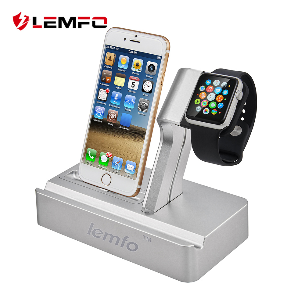 LEMFO Charger For iPhone X 8 Fast Charging Holder Triple Smart Watch Bracket For Apple Watches Series 1 2 3 IPad watches international x