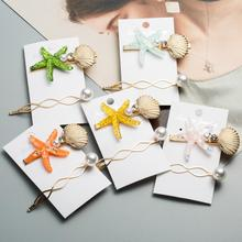 Get more info on the 2pcs New Fashion Pearl Hairpins Starfish Hair Clips Sea Shell Barrettes Hairgrip for Wedding Party Hair Styling for Women Girls