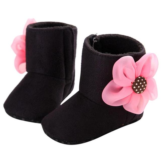 Baby Boots 2017 cute Baby Toddler Infant Girl Snow Boots Soft Sole prewalker Crib Shoes  D50