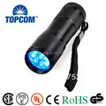 pocket 9 led uv torch flashlight