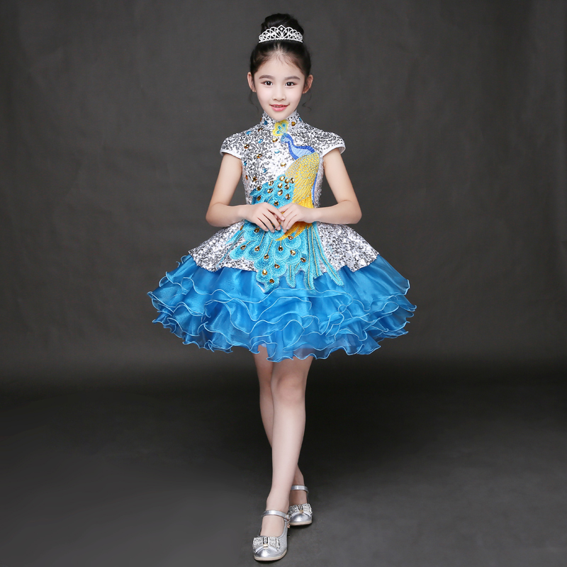 Elegant Sweet Lace Embroidery Girls Dresses Summer 2017 Cute Princess Dress Flower Girls Dress For Wedding And Prom Party P32