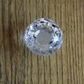 Dia 40 mm gaveta do armário maçanetas puxa alças de cristal forma de diamante de vidro móveis Knob