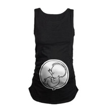 Pregnancy Women T Shirt Sleeveless Christmas Baby Prints Tank Tops tshirt Pregnancy T-Shirt Pregnant Top Shirts Clothing