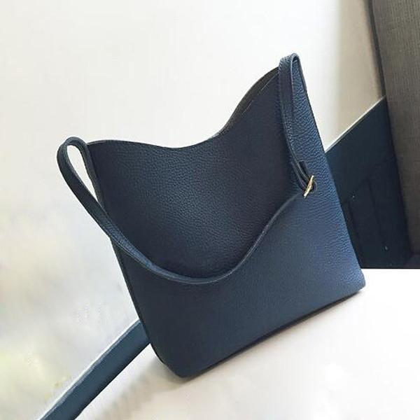 Bolsas de diseñador de Las Mujeres Bolsos de Bandolera Cubo Negro PU Señoras de Cuero Bolsas para Cadáveres cruzadas Totes Bolsa de la Compra bolsa feminina de Las Mujeres
