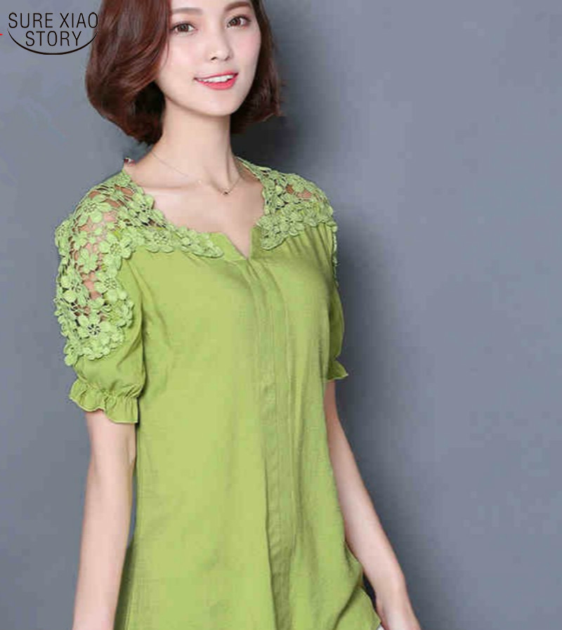 Fashion 2016 new summer tops plus size lace blouse with for Plus size summer shirts