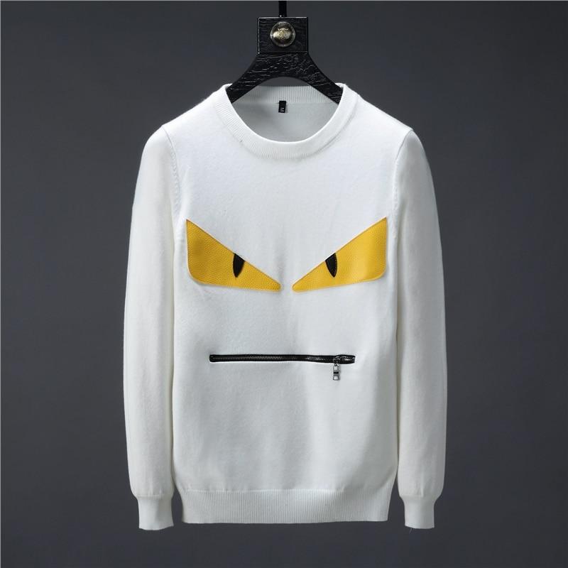2019 Bande Dessinée 3D marque Zipper décontracté social hommes chandail jersey vêtements pull chandail Ordinateur Tricoté mâle tricots Polaire