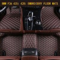 Автомобиль Коврики для BMW F36 428i 435i 2014 2017 футов Ковры S Pad Коврики шаг Вышивка кожаный салон автомобиля коврики S тяжелых Ковры