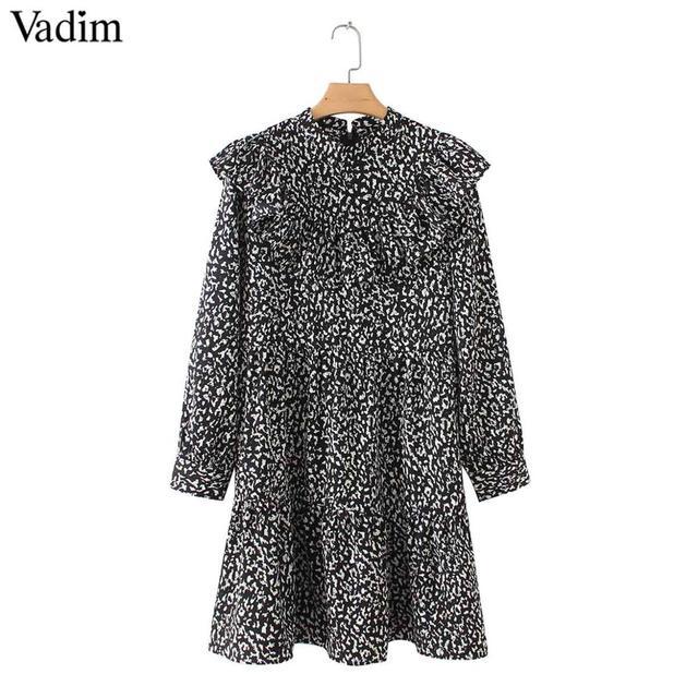 Women Vintage Leopard Dress...