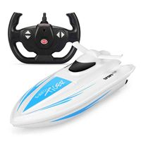Hot sale 2.4G high speed remote control boat electric speed boat model swimming pool lake water racing game toy