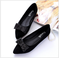 Newest Summer Famous Brand Design Luxury Plus Size High Grade PU Leather Square ToeFor Women Flat