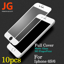 JG 10pcs lot Front Full Screen Protection Tempered Glass for Apple iPhone 6 Screen Protector 6S