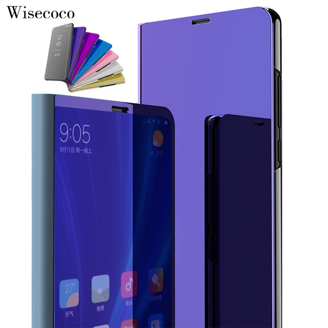 best service d5232 d824e Luxury Flip Stand Touch Case for Xiaomi Mi A2 6X Leather Clear Smart View  360 Mirror Phone Cases for Xiomi Xaomi Mi6x Mia2 Cover