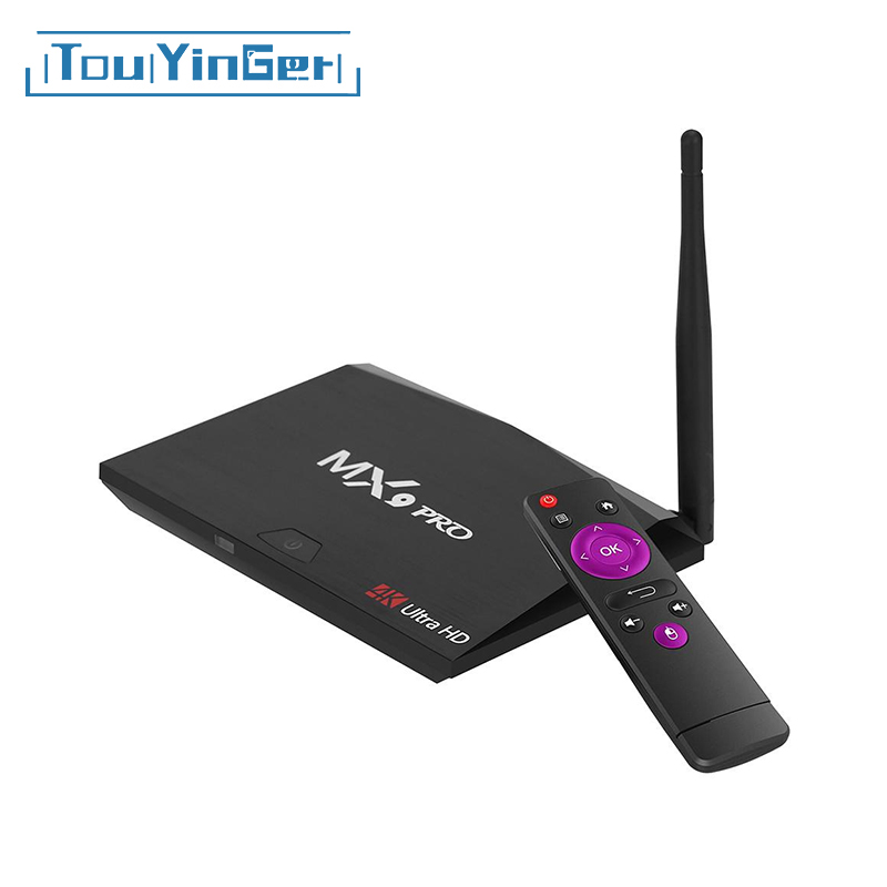 Touyinger Media-Player Set-Top-Box Wifi Bluetooth Quad-Core RK3328 Mx9 Pro Android 4GB-RAM