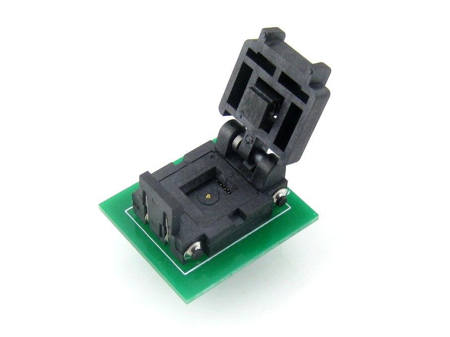 QFN8 à DIP8 (C) QFN8 MLP8 MLF8 Plastronics 08TN13A18060 IC Test adaptateur de programmation de prise de gravure pas de 1.3mm - 2