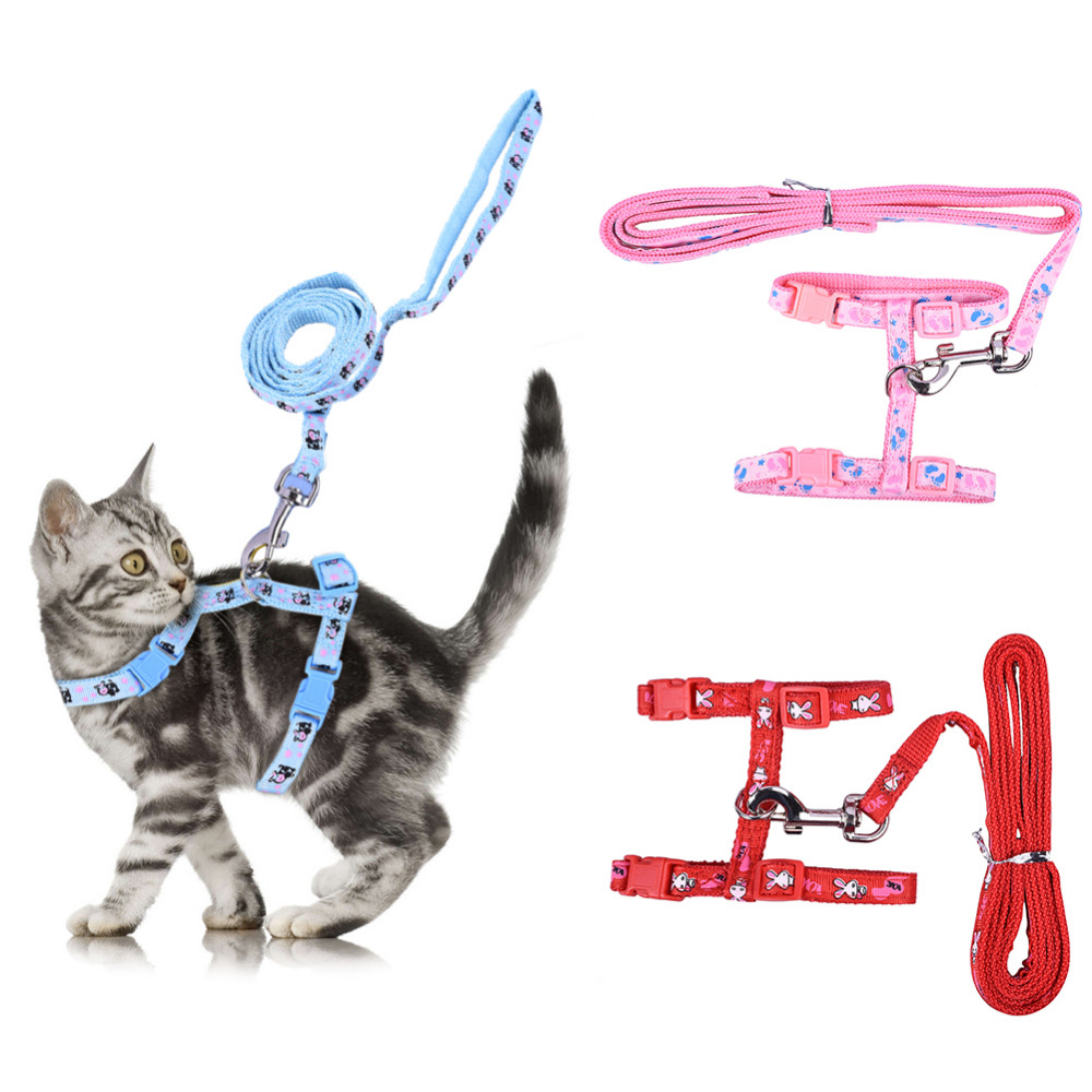 Adjustable Figure H Cat Harness Pet Harnesses Cat Leash Cat Traction