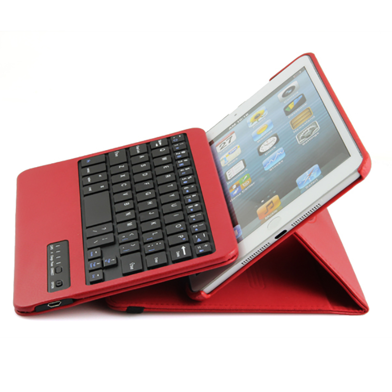 High Quality 360 Degree Rotatable Bluetooth Keyboard Leather Case For Apple iPad Mini 1 2 3 7.9 Free Shipping HKPAM CPAM high quality ultra portable bluetooth folding qwerty keyboard for iphone free shipping