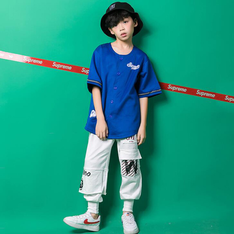 Ballroom 100% True Ktlpart Cotton Red Black Children Adult Girl Boy Drum Kit Hiphop Hip Hop Jazz Modern Dance Suit Costume Hooded Clothes Pants Kid