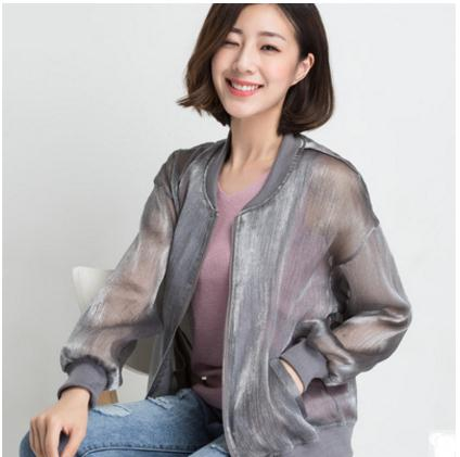 2018 Brand New Women Summer Korean Long Sleeves Jacket Leisure Sun Protection Air Condition Coats Newest Thin Coats Tops K601