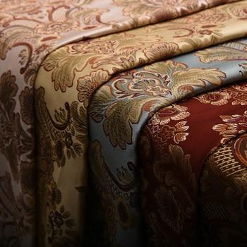 Европейские ткани цветок в для Diy ткань из жаккардового дивана ткань для штор подушка стул Швейные Материал полосой домашний текстиль тела