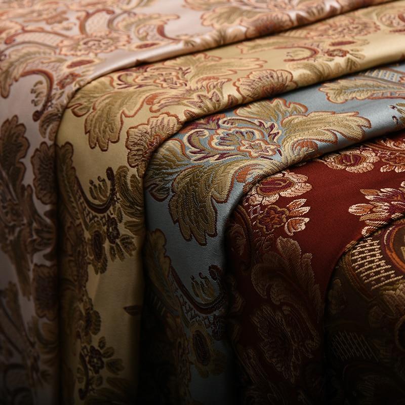 European Fabric Flower in Meter for Diy Jacquard Sofa Fabric Curtain Cloth Pillow Chair Sewing Material Stripe Home Textile Tela