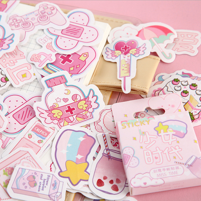 46 Pcs/Lot Pink Teenage girl Cat plant mini decoration paper sticker decoration DIY album diary scrapbooking label sticker46 Pcs/Lot Pink Teenage girl Cat plant mini decoration paper sticker decoration DIY album diary scrapbooking label sticker