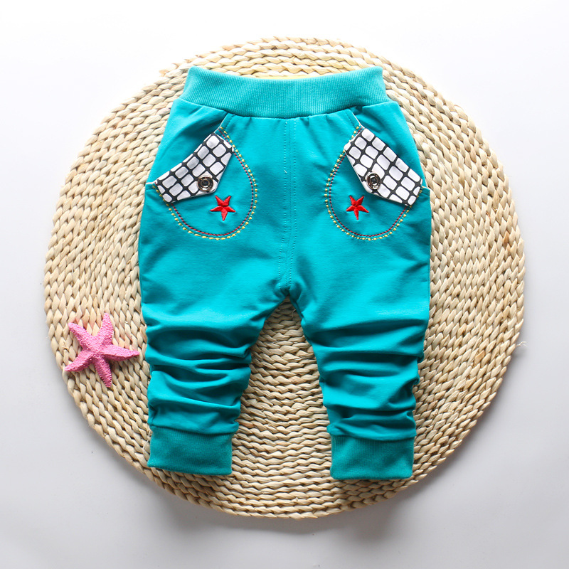 IENENS Baby Toddler Boys Cotton Harm Pants Trousers Clothes Kids Child Boy Casual Clothing Spring Autumn Infant Cartoons Bottoms