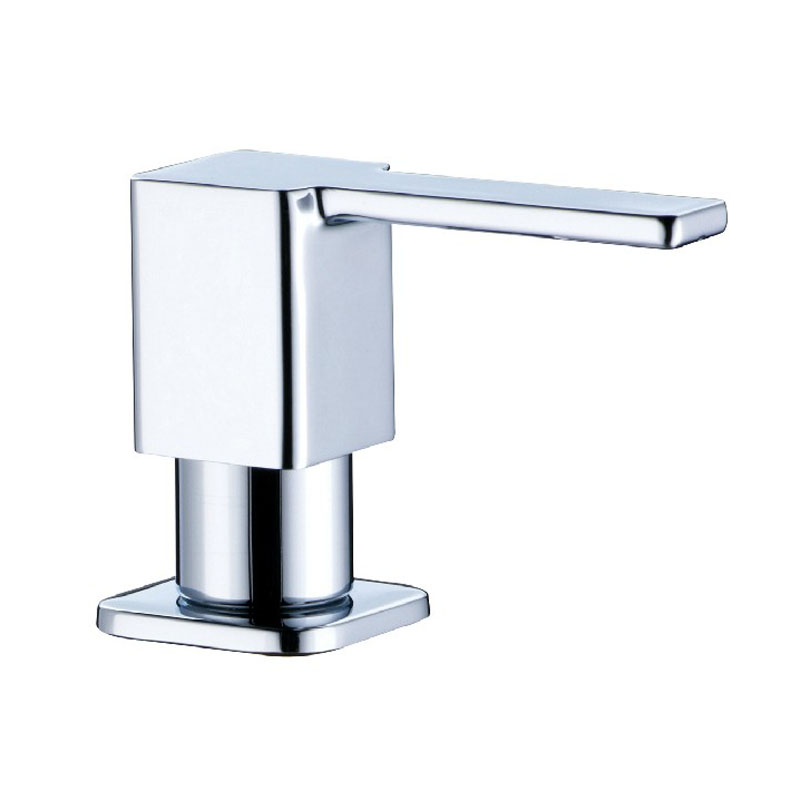 chrome brass square soap dispenser fit for kitchen sink