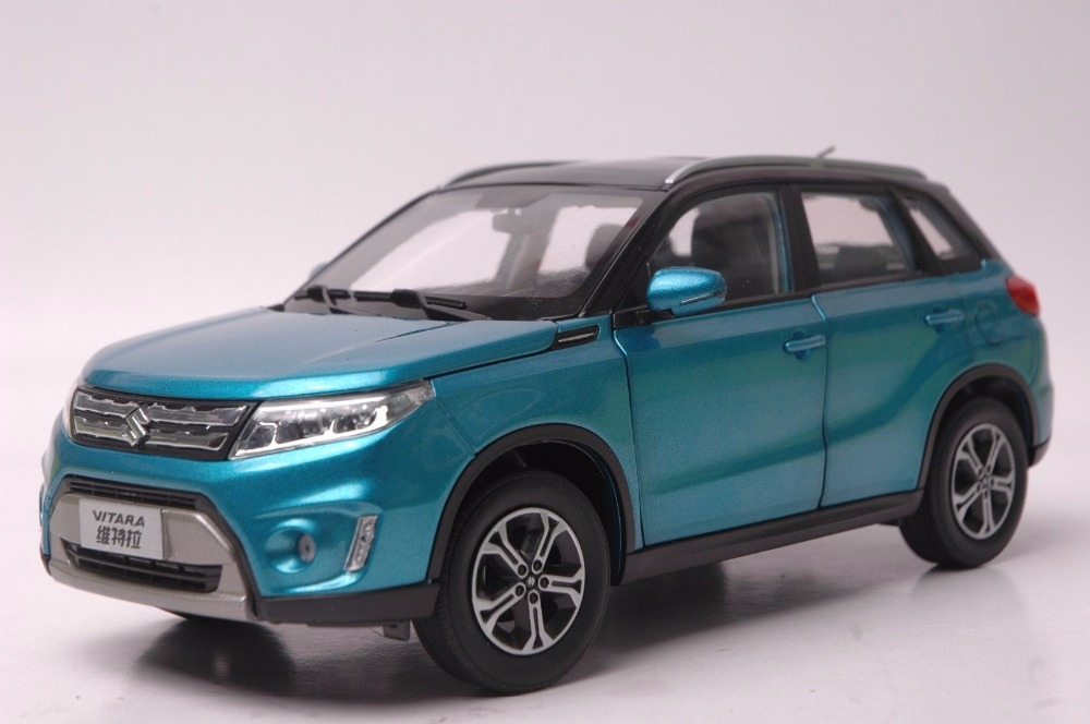 1:18 Diecast Model for Suzuki Vitara 2016 Blue SUV Alloy Toy Car Miniature Collection Gifts Gran 1 18 diecast model for volvo v60 2016 blue suv alloy toy car collection