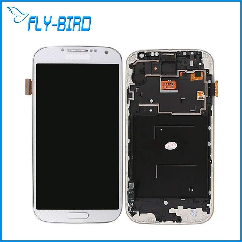 10PCS/LOT LCD For Samsung Galaxy s4 i9500 i9505 Lcd Display Touch Screen With Digitizer Assembly With Frame brand new i9505 lcd screen display for samsung galaxy s4 i9500 i9505 i337 i545 lcd with touch digitizer glass panel frame