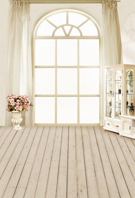 Wood Floor  Window Indoor Photography Backgrounds High-grade Vinyl cloth Computer printed Wooden backdrop wood floor indoor photography backdrop cloth