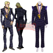 Cosplaylegend Anime JOJO JoJo's Bizarre Adventure Golden Wind Prosciutto Cosplay Costume halloween costume custom made цена