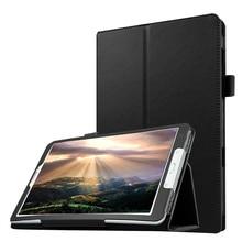цена на Tablet Case for Samsung Galaxy Tab E 9.6 T560 T561 Slim Folding Flip Stand Cover PU Leather Case for Samsung Tab E T560+Film+Pen