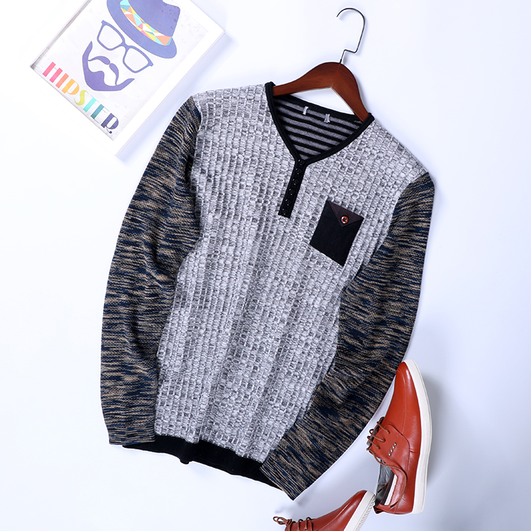 Cheap Wholesale 2019 New Spring Summer Autumn Hot Selling Men's Fashion Casual Nice Tops Man Sweater MC123