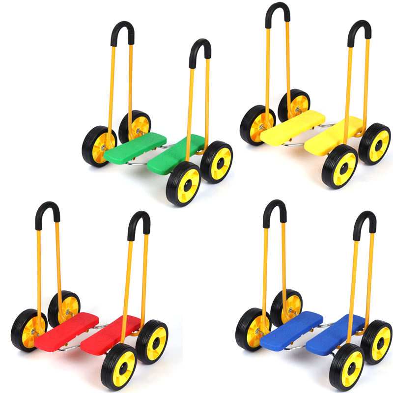 Child Ride On Four Wheel Pedal Walker Kids Children Sensory Integration Indoor Outdoor Balance Skills Activity Toys